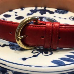 Coach Leather Belt med